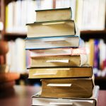 Stack of Library Books --- Image by © Royalty-Free/Corbis